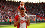 SOUTHAMPTON, ENGLAND - MAY 13: Wesley Hoedt (middle) of Southampton FC during the Premier League match between Southampton and Manchester City at St Mary's Stadium on May 13, 2018 in Southampton, England. (Photo by James Bridle - Southampton FC/Southampton FC via Getty Images)