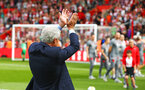 SOUTHAMPTON, ENGLAND - MAY 13: Mark Hughes claps the Southampton FC fans during the lap of appreciation affter the Premier League match between Southampton and Manchester City at St Mary's Stadium on May 13, 2018 in Southampton, England. (Photo by James Bridle - Southampton FC/Southampton FC via Getty Images)