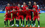 SOCHI, RUSSIA - JUNE 15:  The Portugal team line up during the 2018 FIFA World Cup Russia group B match between Portugal and Spain at Fisht Stadium on June 15, 2018 in Sochi, Russia.  (Photo by Dean Mouhtaropoulos/Getty Images)