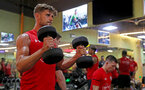 Jack Stephens during a gym session of Southampton FC's pre-season tour of China, at the Kunshan training facility, Kunshan, Shanghai, China, 2nd July 2018