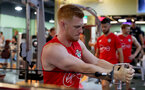 Harrison Reed during a gym session of Southampton FC's pre-season tour of China, at the Kunshan training facility, Kunshan, Shanghai, China, 2nd July 2018