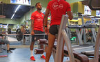 Ryan Bertrand during a gym session of Southampton FC's pre-season tour of China, at the Kunshan training facility, Kunshan, Shanghai, China, 2nd July 2018