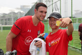 Video: Saints meet fans in China