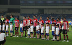 KUNSHAN, CHINA - JULY 05: Southampton players lineup during the pre season 2018 Clubs Super Cup match between Southampton FC and FC Schalke, at Kunshan Sports Center on July 5, 2018 in Kunshan, China. (Photo by Matt Watson/Southampton FC via Getty Images)
