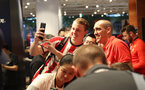 SHANGHAI, CHINA - JULY 06: Southampton FC players visit the Under Armour store while on their pre season tour of China, Oriol Romeu pictured with a fan, on July 6, 2018 in Shanghai, China. (Photo by Matt Watson/Southampton FC via Getty Images)