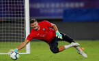 SHANGHAI, CHINA - JULY 09: Fraser Forster during a Southampton FC training session, while on their pre season tour of China, on July 6, 2018 in Xuzhou, China. (Photo by Matt Watson/Southampton FC via Getty Images)