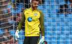 MANCHESTER, ENGLAND - MAY 06:  Angus Gunn of Manchester City warms up prior to the Premier League match between Manchester City and Crystal Palace at the Etihad Stadium on May 6, 2017 in Manchester, England.  (Photo by Dave Thompson/Getty Images)