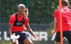 SOUTHAMPTON, ENGLAND - JULY 16: Mario Lemina during a Southampton FC training session at the Staplewood Campus on July 16, 2018 in Southampton, England. (Photo by Matt Watson/Southampton FC via Getty Images)