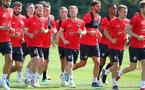 SOUTHAMPTON, ENGLAND - JULY 16: Harrison Reed(centre) during a Southampton FC training session at the Staplewood Campus on July 16, 2018 in Southampton, England. (Photo by Matt Watson/Southampton FC via Getty Images)