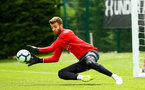 SOUTHAMPTON, ENGLAND - JULY 18: Angus Gunn during a Southampton FC training session at Staplewood Complex on July 18, 2018 in Southampton, England. (Photo by James Bridle - Southampton FC/Southampton FC via Getty Images)