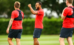 SOUTHAMPTON, ENGLAND - JULY 18: Ryan Bertrand (middle) during a Southampton FC training session at Staplewood Complex on July 18, 2018 in Southampton, England. (Photo by James Bridle - Southampton FC/Southampton FC via Getty Images)
