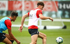 SOUTHAMPTON, ENGLAND - JULY 18: Sam Gallagher during a Southampton FC training session at Staplewood Complex on July 18, 2018 in Southampton, England. (Photo by James Bridle - Southampton FC/Southampton FC via Getty Images)