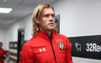 DERBY, ENGLAND - JULY 21: Jannik Vestergaard of Southampton ahead of the pre-season friendly match between Derby County and Southampton at Pride Park on July 21, 2018 in Derby, England. (Photo by Matt Watson/Southampton FC via Getty Images)