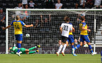 DERBY, ENGLAND - JULY 21: Derby score thier second during the pre-season friendly match between Derby County and Southampton at Pride Park on July 21, 2018 in Derby, England. (Photo by Matt Watson/Southampton FC via Getty Images)