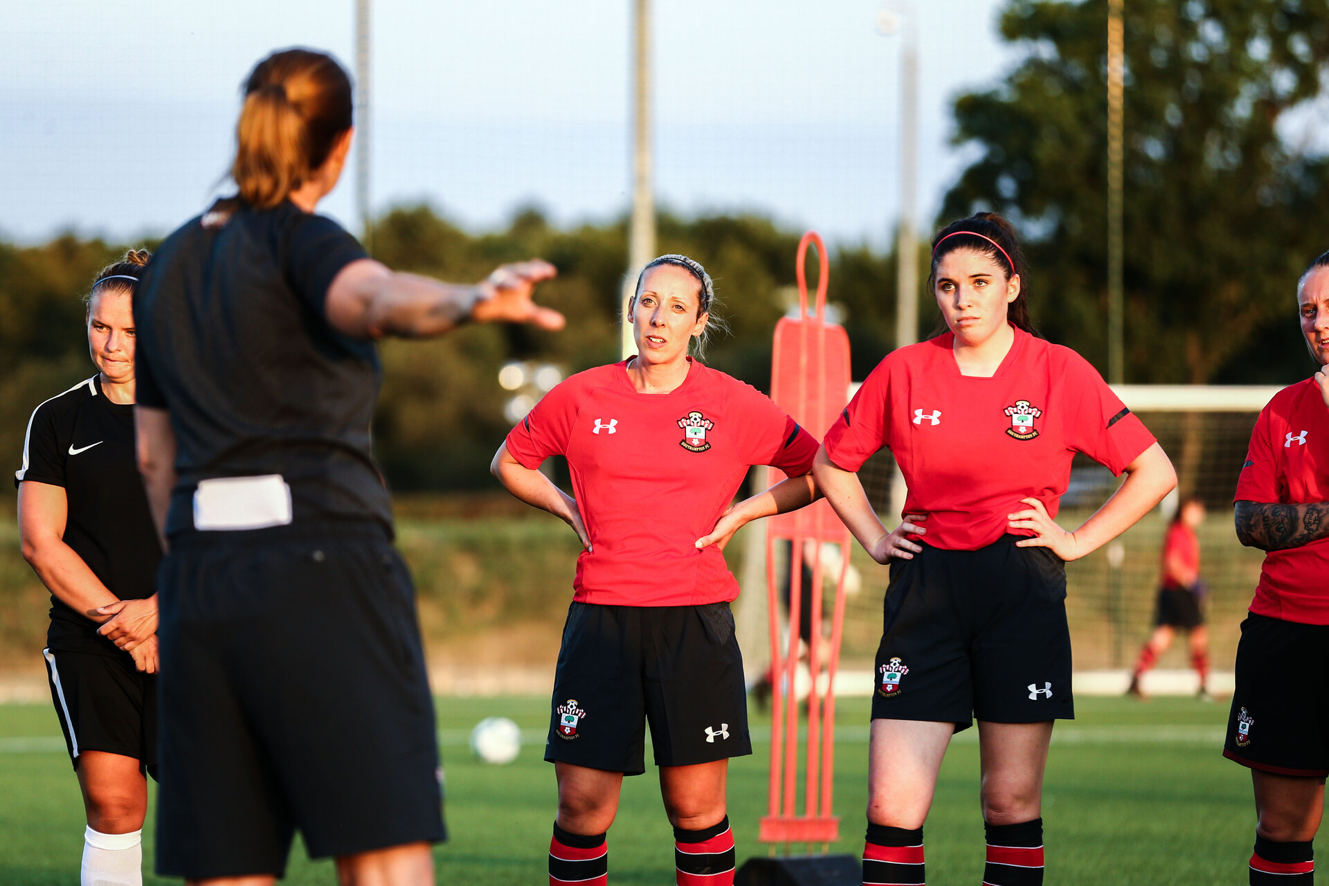 SOUTHAMPTON, ENGLAND - JULY 24: Southampton FC Girls take part in Training and Team building at Staplewood Complex on July 24, 2018 in Southampton, England. (Photo by James Bridle - Southampton FC/Southampton FC via Getty Images)