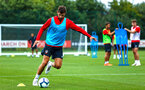 SOUTHAMPTON, ENGLAND - JULY 30: Jack Stephens during a Southampton FC training sessions at Staplewood Complex on July 30, 2018 in Southampton, England. (Photo by James Bridle - Southampton FC/Southampton FC via Getty Images)