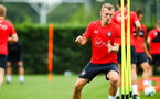 SOUTHAMPTON, ENGLAND - JULY 30: James Ward-Prowse during a Southampton FC training sessions at Staplewood Complex on July 30, 2018 in Southampton, England. (Photo by James Bridle - Southampton FC/Southampton FC via Getty Images)