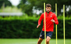 SOUTHAMPTON, ENGLAND - JULY 30: Jack Stephens (right) during a Southampton FC training sessions at Staplewood Complex on July 30, 2018 in Southampton, England. (Photo by James Bridle - Southampton FC/Southampton FC via Getty Images)