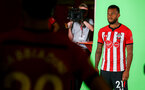 SOUTHAMPTON, ENGLAND - JULY 31: Ryan Bertrand during a BTS view at a Southampton FC Photoshoot at St Mary's Stadium on July 31, 2018 in Southampton, England. (Photo by James Bridle - Southampton FC/Southampton FC via Getty Images)