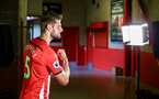 SOUTHAMPTON, ENGLAND - JULY 31: Jack Stephens during a BTS view at a Southampton FC Photoshoot at St Mary's Stadium on July 31, 2018 in Southampton, England. (Photo by James Bridle - Southampton FC/Southampton FC via Getty Images)