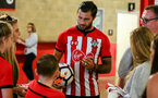 SOUTHAMPTON, ENGLAND - JULY 31: Charlie Austin during a BTS view at a Southampton FC Photoshoot at St Mary's Stadium on July 31, 2018 in Southampton, England. (Photo by James Bridle - Southampton FC/Southampton FC via Getty Images)