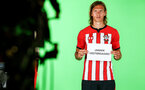 SOUTHAMPTON, ENGLAND - JULY 31: Jannik Vestergaard during a BTS view at a Southampton FC Photoshoot at St Mary's Stadium on July 31, 2018 in Southampton, England. (Photo by James Bridle - Southampton FC/Southampton FC via Getty Images)