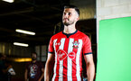 SOUTHAMPTON, ENGLAND - JULY 31: Shane Long during a BTS view at a Southampton FC Photoshoot at St Mary's Stadium on July 31, 2018 in Southampton, England. (Photo by James Bridle - Southampton FC/Southampton FC via Getty Images)