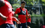SOUTHAMPTON, ENGLAND - AUGUST 03: Mohamed Elyounoussi during a Southampton FC training session at Staplewood Complex on August 3, 2018 in Southampton, England. (Photo by James Bridle - Southampton FC/Southampton FC via Getty Images)