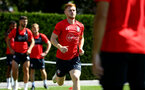 SOUTHAMPTON, ENGLAND - AUGUST 03: Harrison Reed during a Southampton FC training session at Staplewood Complex on August 3, 2018 in Southampton, England. (Photo by James Bridle - Southampton FC/Southampton FC via Getty Images)