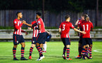 SOUTHAMPTON, ENGLAND - AUGUST 10: Southampton FC players celebrate after winning the PL2 match between Southampton FC vs Middlesbrough FC pictured at Staplewood Complex on August 10, 2018 in Southampton, England. (Photo by James Bridle - Southampton FC/Southampton FC via Getty Images)
