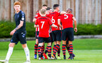 SOUTHAMPTON, ENGLAND - AUGUST 10: Southampton FC scores (Alfie Jones) during the PL2 match between Southampton FC vs Middlesbrough FC pictured at Staplewood Complex on August 10, 2018 in Southampton, England. (Photo by James Bridle - Southampton FC/Southampton FC via Getty Images)