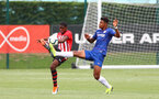 Kayne Ramsay(L) during an U18 match between Southampton FC and Chelsea, at the Staplewood Campus, Southampton, 11th August 2018