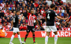 SOUTHAMPTON, ENGLAND - AUGUST 12: Nathan Redmond (middle) of Southampton FC  during the Premier League match between Southampton FC and Burnley FC at St Mary's Stadium on August 12, 2018 in Southampton, United Kingdom. (Photo by James Bridle - Southampton FC/Southampton FC via Getty Images)
