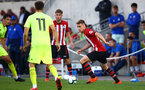 SOUTHAMPTON, ENGLAND - AUGUST 14: Jake Hesketh (right) during the U23 International Cup match between Southampton FC vs Dinamo Zagreb pictured at Staplewood Complex on August 14, 2018 in Southampton, England. (Photo by James Bridle - Southampton FC/Southampton FC via Getty Images)