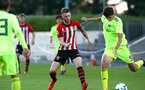 SOUTHAMPTON, ENGLAND - AUGUST 14: Callum Slattery (middle) during the U23 International Cup match between Southampton FC vs Dinamo Zagreb pictured at Staplewood Complex on August 14, 2018 in Southampton, England. (Photo by James Bridle - Southampton FC/Southampton FC via Getty Images)