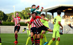 SOUTHAMPTON, ENGLAND - AUGUST 14: Thomas O'Connor (middle) during the U23 International Cup match between Southampton FC vs Dinamo Zagreb pictured at Staplewood Complex on August 14, 2018 in Southampton, England. (Photo by James Bridle - Southampton FC/Southampton FC via Getty Images)
