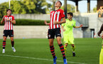 SOUTHAMPTON, ENGLAND - AUGUST 14: A Near Miss for Will Smallbone during the U23 International Cup match between Southampton FC vs Dinamo Zagreb pictured at Staplewood Complex on August 14, 2018 in Southampton, England. (Photo by James Bridle - Southampton FC/Southampton FC via Getty Images)