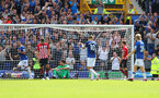 LIVERPOOL, ENGLAND - AUGUST 18: Everton score their second goal during the Premier League match between Everton FC and Southampton FC at Goodison Park on August 18, 2018 in Liverpool, United Kingdom. (Photo by Matt Watson/Southampton FC via Getty Images)
