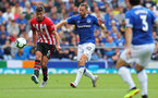 LIVERPOOL, ENGLAND - AUGUST 18: Jack Stephens(L) of Southampton during the Premier League match between Everton FC and Southampton FC at Goodison Park on August 18, 2018 in Liverpool, United Kingdom. (Photo by Matt Watson/Southampton FC via Getty Images)