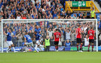 LIVERPOOL, ENGLAND - AUGUST 18: Everton open the scoring during the Premier League match between Everton FC and Southampton FC at Goodison Park on August 18, 2018 in Liverpool, United Kingdom. (Photo by Matt Watson/Southampton FC via Getty Images)