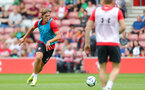 Jannik Vestergaard during a Southampton FC training session at St Marys Stadium, Southampton, 20th August 2018