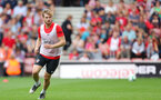 Stuart Armstrong during a Southampton FC training session at St Marys Stadium, Southampton, 20th August 2018