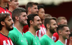 Goalkeepers, left to right, Fraser Forster, Alex McCarthy, Angus Gunn and Harry Lewis. Southampton FC team photo and open training session at St Mary's Stadium, Southampton                                Picture: Chris Moorhouse               Monday 20th August 2018             FOR EDITORIAL USE ONLY