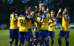 LONDON, ENGLAND - AUGUST 20: Southampton FC celebrate during an U23 Pl2 match between Southampton FC and Stoke City Clayton Training Ground on August 20, 2018 in London, England. (Photo by James Bridle - Southampton FC/Southampton FC via Getty Images)