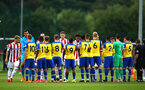 LONDON, ENGLAND - AUGUST 20: Southampton FC ahead of KO for the U23 Pl2 match between Southampton FC and Stoke City Clayton Training Ground on August 20, 2018 in London, England. (Photo by James Bridle - Southampton FC/Southampton FC via Getty Images)