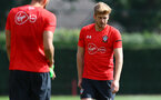 SOUTHAMPTON, ENGLAND - AUGUST 23: Stuart Armstrong during a Southampton FC training session at the Staplewood Campus on August 23, 2018 in Southampton, England. (Photo by Matt Watson/Southampton FC via Getty Images)