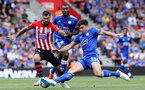 SOUTHAMPTON, ENGLAND - AUGUST 25: Charlie Austin of Southampton during the Premier League match between Southampton FC and Leicester City at St Mary's Stadium on August 25, 2018 in Southampton, United Kingdom. (Photo by Chris Moorhouse/Southampton FC via Getty Images)