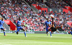 SOUTHAMPTON, ENGLAND - AUGUST 25: Mario Lemina of Southampton attempts an overhead kick during the Premier League match between Southampton FC and Leicester City at St Mary's Stadium on August 25, 2018 in Southampton, United Kingdom. (Photo by Matt Watson/Southampton FC via Getty Images)