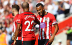 SOUTHAMPTON, ENGLAND - AUGUST 25: Ryan Bertrand of Southampton celebrates after putting his team 1-0 up during the Premier League match between Southampton FC and Leicester City at St Mary's Stadium on August 25, 2018 in Southampton, United Kingdom. (Photo by Matt Watson/Southampton FC via Getty Images)