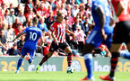 SOUTHAMPTON, ENGLAND - AUGUST 25: Jannik Vestergaard of Southampton during the Premier League match between Southampton FC and Leicester City at St Mary's Stadium on August 25, 2018 in Southampton, United Kingdom. (Photo by Matt Watson/Southampton FC via Getty Images)